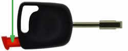 Ford Cougar key transponder location FO21T