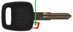 Nissan Micra key transponder location NSN11T