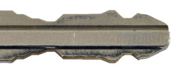 Toyota cut key from top TOY43T