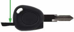 Renault Laguna key transponder location VAC102T