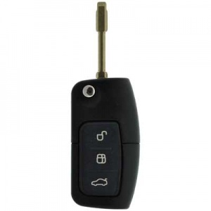 Ford Cougar three button remote with flip key FO21