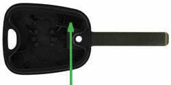 Citroen C1 key transponder location VA2T
